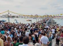 Del Redentore-Venecia, Italia de Festa Fotografía de archivo libre de regalías