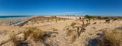Del Rei Beach de l'Europe, Portugal, Algarve (Tavira) Pedras Photos stock