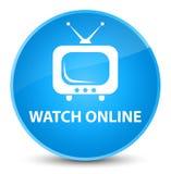 Del reloj botón redondo azul ciánico elegante en línea libre illustration
