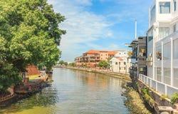 Del Rio Hotel da casa na cidade de Malacca, Malásia foto de stock