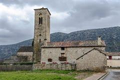 Del Rosario Church de Virgen dans la ville rurale de Triste, Espagne Images stock