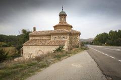 Del Rosario Hermitage de Virgen en Luco de Jiloca Entrebasaguas, provincia de Teruel, España fotografía de archivo libre de regalías