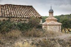 Del Rosario Hermitage de Virgen en Luco de Jiloca Entrebasaguas, provincia de Teruel, España fotos de archivo libres de regalías