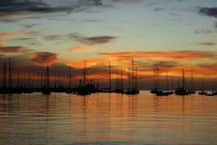 Del Sacramento de Colonia de la puesta del sol imagen de archivo