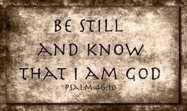 46:10 del salmo Immagini Stock Libere da Diritti