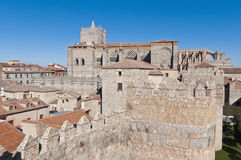 Del Salvador Cathedral at Avila, Spain Stock Photography