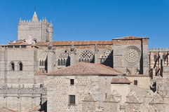 Del Salvador Cathedral at Avila, Spain Royalty Free Stock Images
