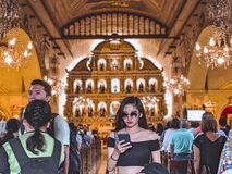 Del santo f?r Cebu stadsbasilika nino arkivbild