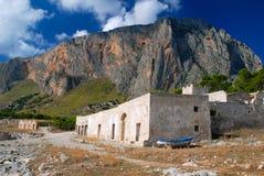 del seascape secco西西里岛tonnara 库存照片