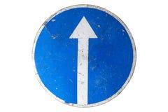 ` Del ` del segnale stradale avanti soltanto isolato su bianco Immagine Stock Libera da Diritti