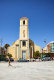 Del Segura, España de Guardamar - 26 de junio de 2016: San Jaime la iglesia parroquial del apóstol Foto de archivo