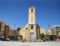 Del Segura, Espagne de Guardamar - 26 juin 2016 : St James l'église paroissiale d'apôtre Images stock