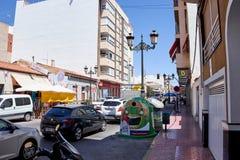 Del Segura, Spagna di Guardamar - 26 giugno 2016: Via a Valencia Viste della città fotografie stock libere da diritti