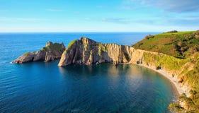 Del Silencio-strand (Asturias, Spanje) Stock Afbeelding