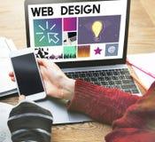 Del sitio web del diseño UI medios WWW concepto del software imágenes de archivo libres de regalías