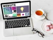 Del sitio web del diseño UI medios WWW concepto del software imagen de archivo libre de regalías