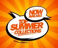 Del ssummer de las colecciones diseño disponible superior ahora Fotografía de archivo libre de regalías