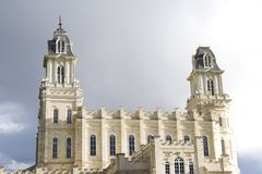 ? del tempiale di LDS Manti Utah del nord Immagini Stock Libere da Diritti