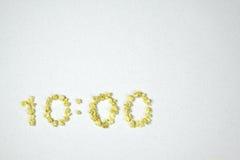 10:00 del tiempo Imagen de archivo libre de regalías