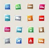 Del transporte iconos simplemente Foto de archivo