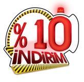 % 10 del turco del descuento del porcentaje de la escala Imagen de archivo libre de regalías