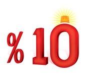% 10 del turco del descuento del porcentaje de la escala El diez por ciento Imagenes de archivo