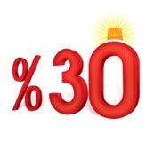 % 30 del turco del descuento del porcentaje de la escala El treinta por ciento Imágenes de archivo libres de regalías
