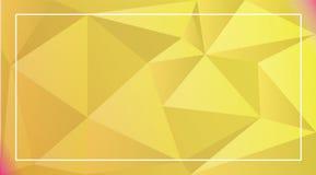 Del vector fondo abstracto polivinílico bajo Foto de archivo
