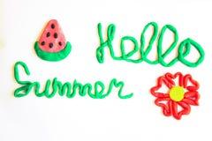 ` Del verano del ` de la inscripción hola Imagen de archivo