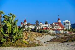 Del vitoriano Coronado do hotel sobre em San Diego fotos de stock royalty free