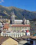 Del Voto Nacional da basílica Quito, Equador fotos de stock royalty free