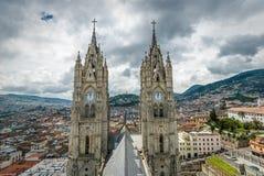 Del Voto Nacional da basílica, Quito, Equador Fotos de Stock Royalty Free