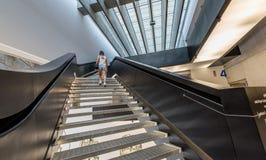 Del XXI Secolo do arti do delle do Museo Nazionale de MAXXI - as escadas imagens de stock