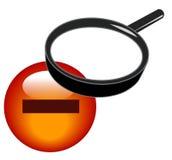 Del zoom icono hacia fuera Foto de archivo libre de regalías