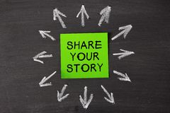 Dela din berättelse arkivbild