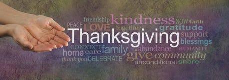 Dela din förälskelse på tacksägelsen arkivfoto