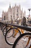 dela för cykelparkering Arkivbild