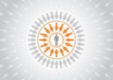 dela för folkrss stock illustrationer