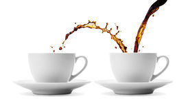 Dela för kaffe royaltyfria foton