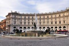 Dela Repubblica da praça, Roma Foto de Stock