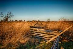 Dela-stång staket arkivfoto