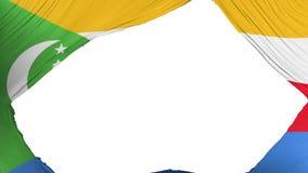 Delad Comoros flagga vektor illustrationer