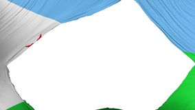 Delad Djibouti flagga stock illustrationer