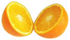 delad half orange Royaltyfri Foto