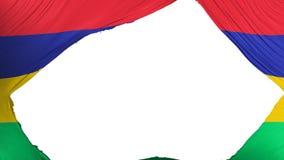 Delad Mauritius flagga royaltyfri illustrationer