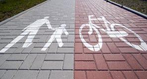 delad trottoar Royaltyfri Fotografi