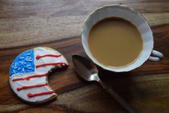 Delade patriotiska kakor Arkivbilder