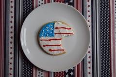 Delade patriotiska kakor Arkivfoton