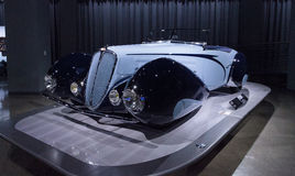 1938年Delahaye类型135M竞争跑车 免版税库存照片