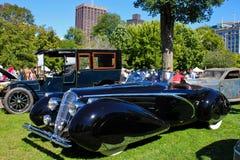 1948年Delahaye 135M,古色古香的汽车 免版税库存图片